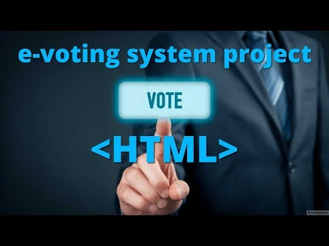 Html Project 4 || E-voting System Project