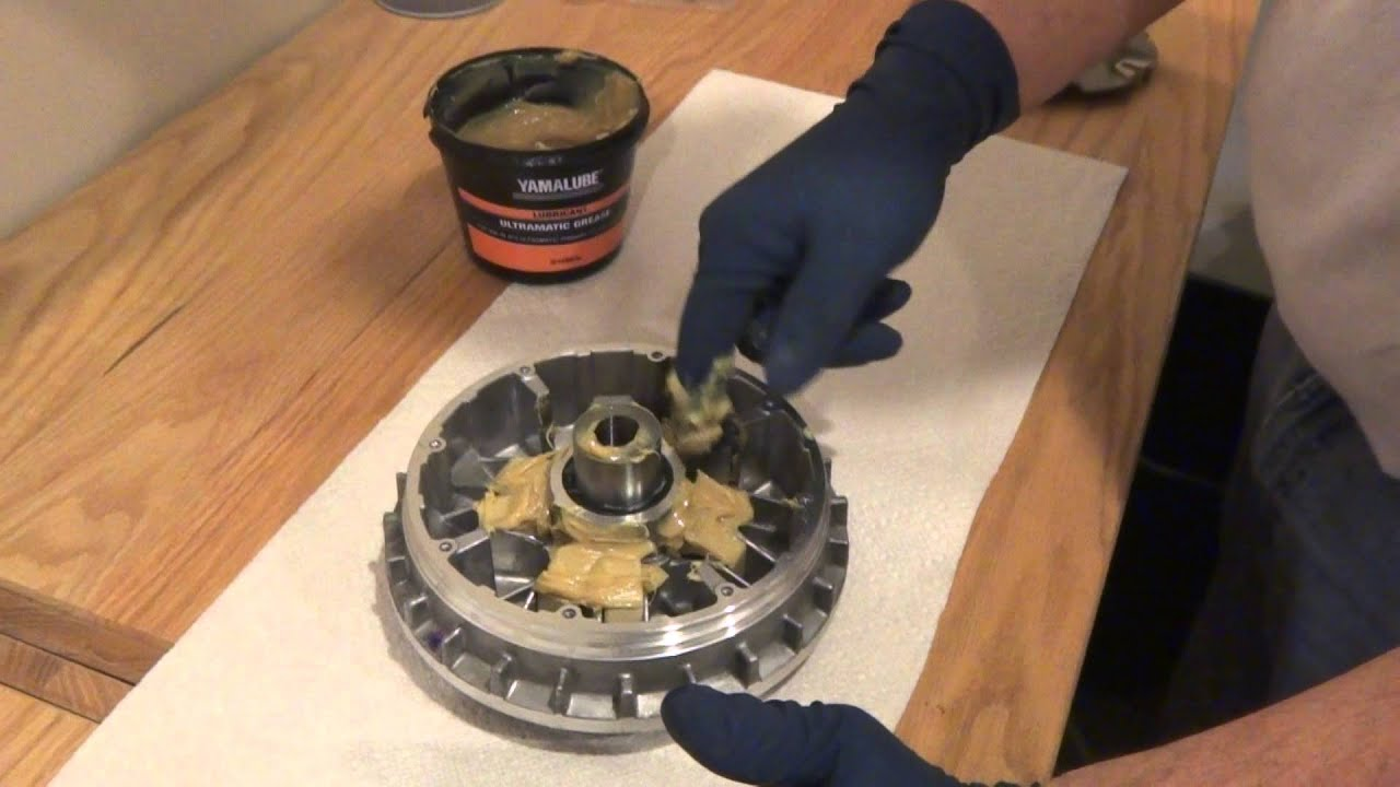 Yamaha Grizzly 450 >> How to Grease your Hot Rod Sheave & OD Weights - YouTube