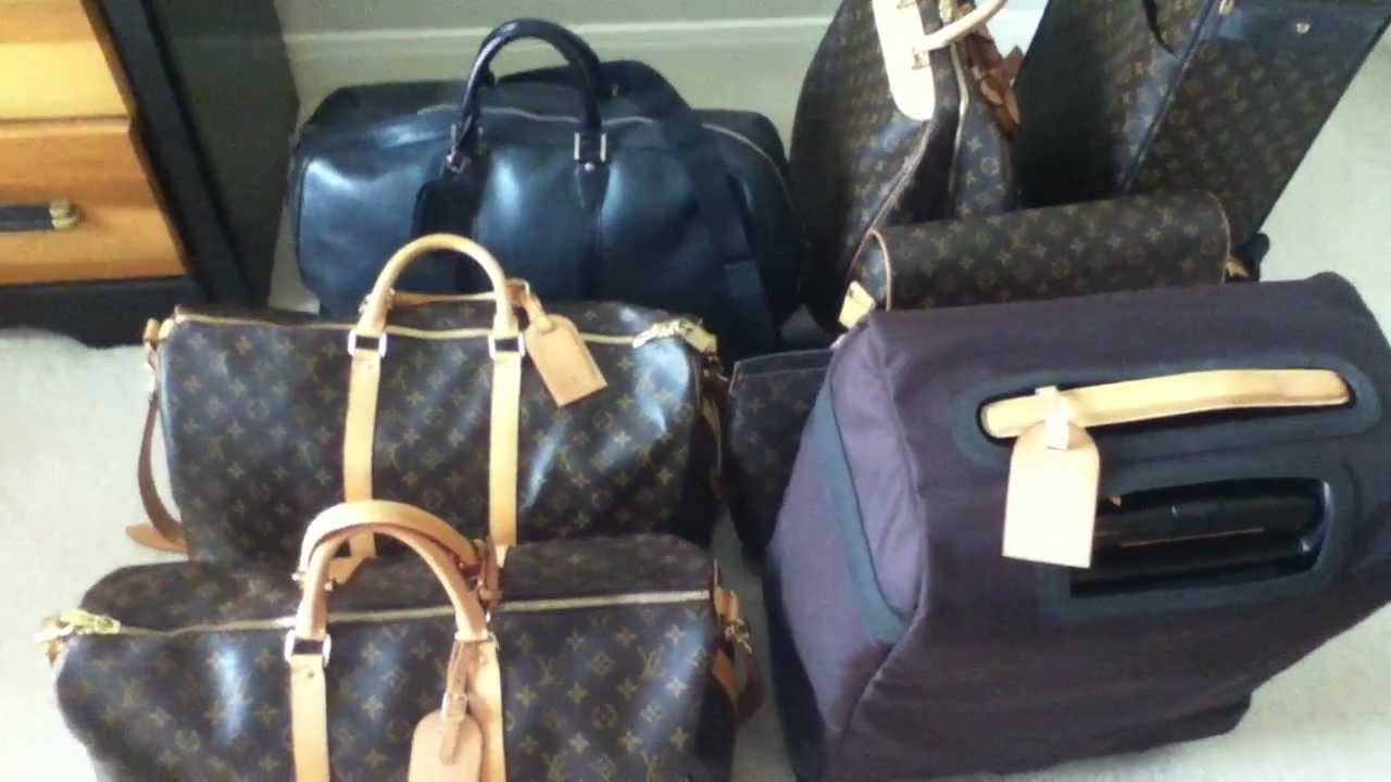 7ec37719b8d4 Louis Vuitton Travel Luggage Collection! My BEST video yet! pegase 55  business - YouTube