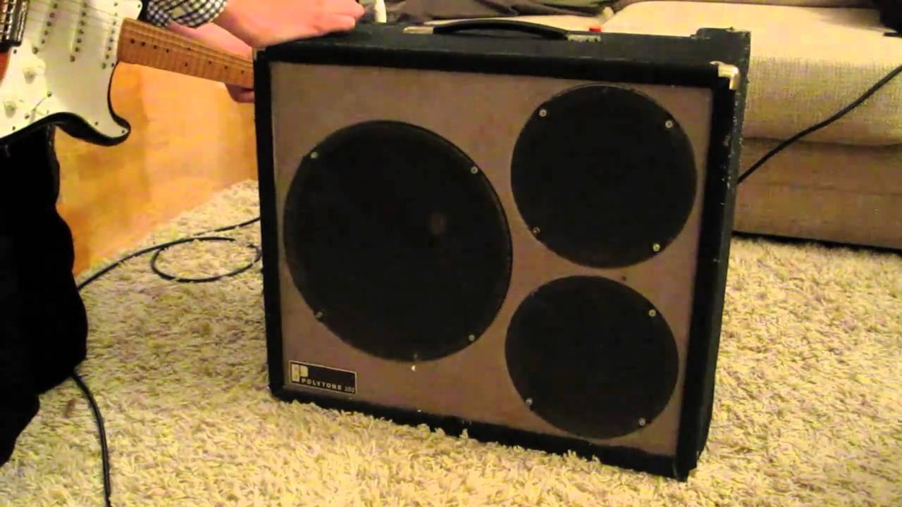 Vintage Polytone 102 Electric Guitar Amp Demo