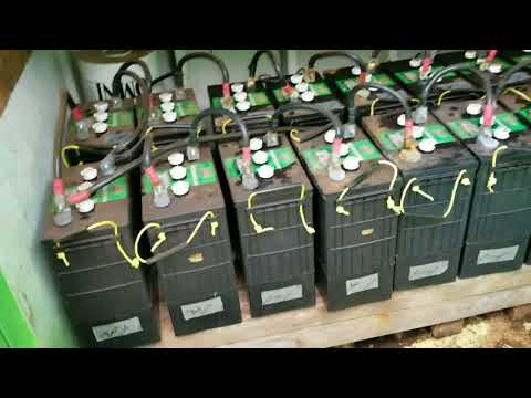 Help My Neighbor Fix His Off Grid Solar System Wind Turbine Batteries