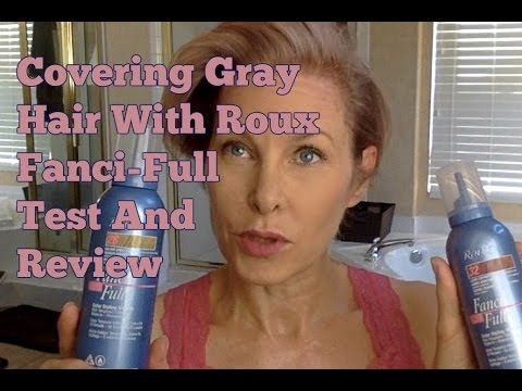 Covering Gray Hair Temporary With Roux Fanci Full Test And