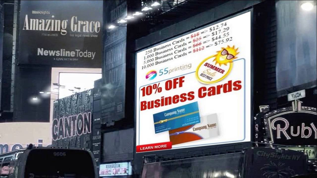 10% Off Business Cards At 55Printing.com - Summer Sale Best Price ...