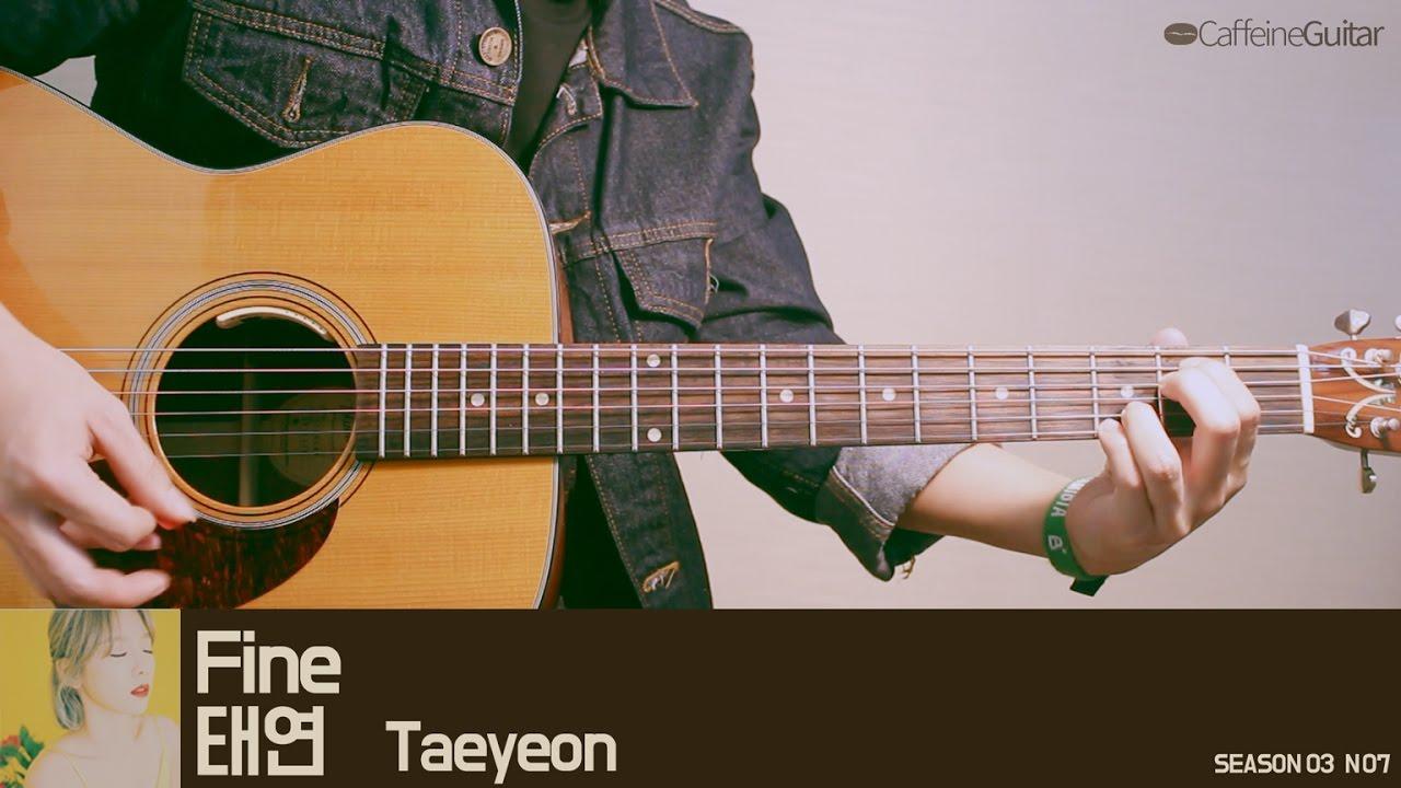 fine-taeyeon-guitar-cover-lesson-chord-tab