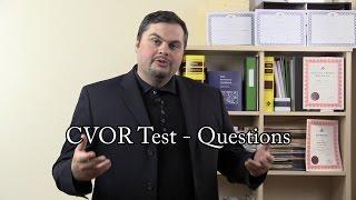 cvor test questions