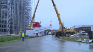 Agristo Nazareth Hoisting of automated stacker cranes by Dematic NV (formerly Egemin Automation)