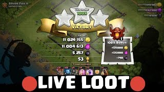 CLASH OF CLANS LIVE LOOT WITH NEW TROOP😍
