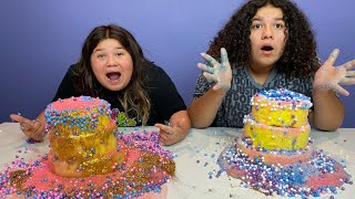 Who can make the best slime cake challenge