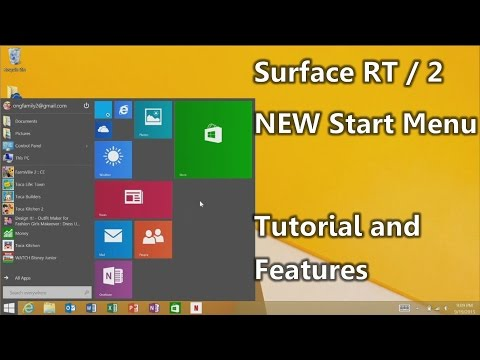 """NEW Start Menu for Surface RT and Surface 2 : The """" Windows 10 """" update for RT"""