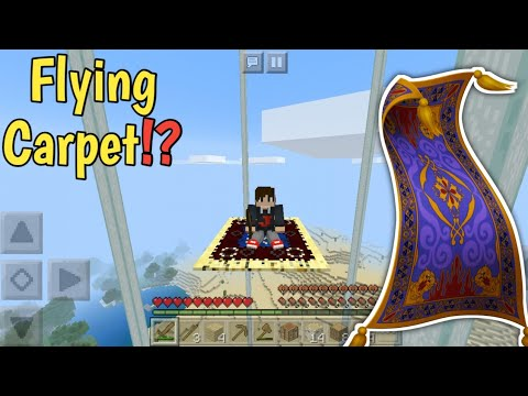 Minecraft But Flying Carpet Was Added