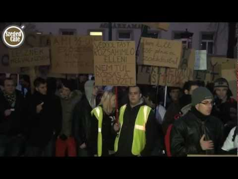 Kétezer diák tüntetett a tandíj ellen Szegeden