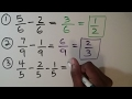 SUBTRACT FRACTIONS: w/ like denominators