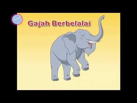 Kartun Lagu Anak Mengenal Binatang Indonesia -tentang Gajah bagian #2