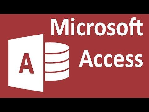 Access 2013 - Tutorial 23 - Queries - Create Table
