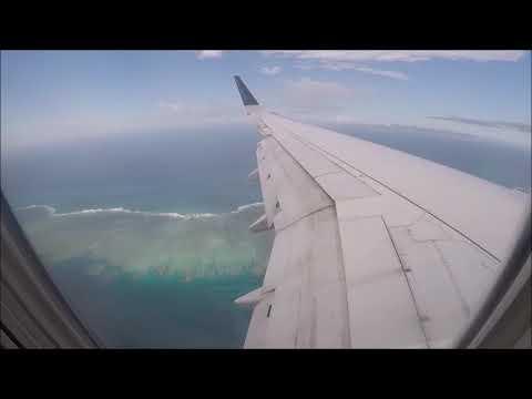 Landing Dzaoudzi airport Mayotte
