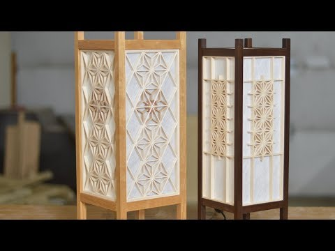 Japanese Woodworking, Lantern Build With Kumiko; Andon