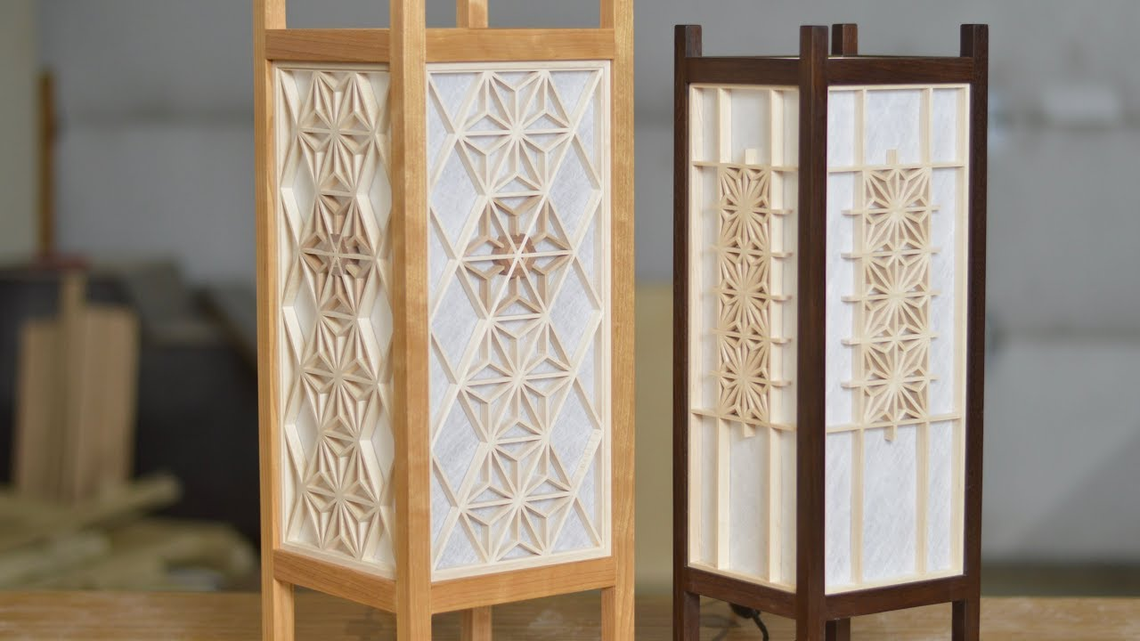 Japanese Woodworking Lantern Build With Kumiko Andon