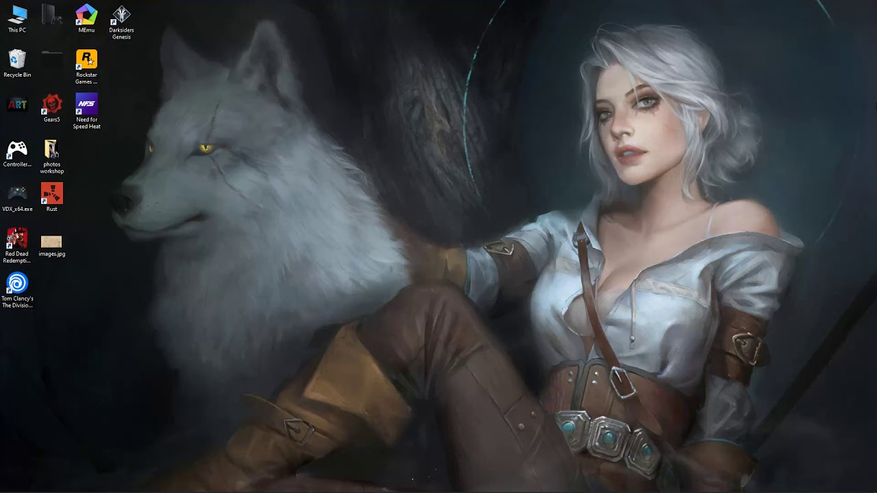 The Witcher 3 Ciri Live Wallpaper Free Download Youtube