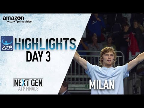 Highlights: Rublev Takes Down Shapovalov Milan 2017