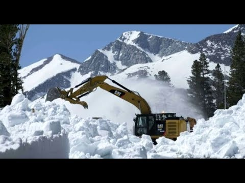 June Snow Removal Western USA & August Skiing 200+ Inch Base (398)