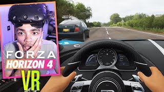 Forza Horizon 4 In VIRTUAL REALITY! (+ Wheel!)
