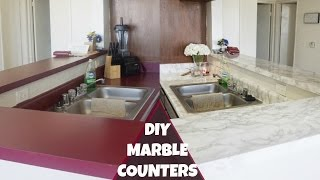 DIY Marble Counters| Revamp your Apartment Kitchen
