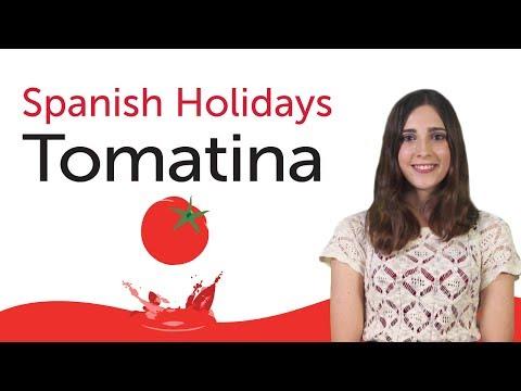 Learn Spanish Holidays - La Tomatina