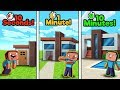 Minecraft - MODERN HOUSE CHALLENGE! (10 Sec vs 1 Min vs 10 Min)