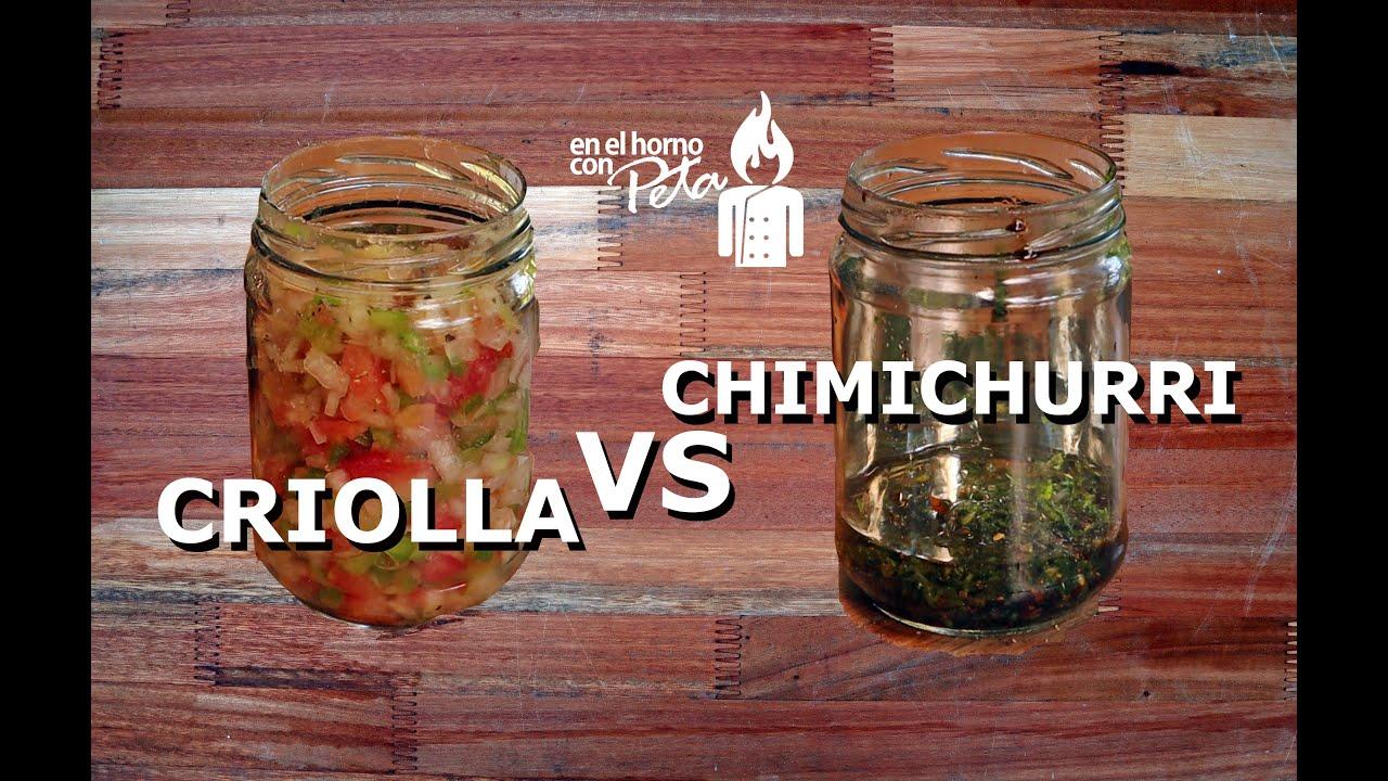 Salsa Criolla y Chimichurri - La diferencia entre estas salsas