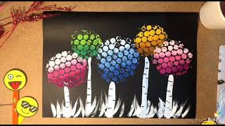 Bé học vẽ tranh Màu Nước Sáng Tạo với màng xốp bong bóng