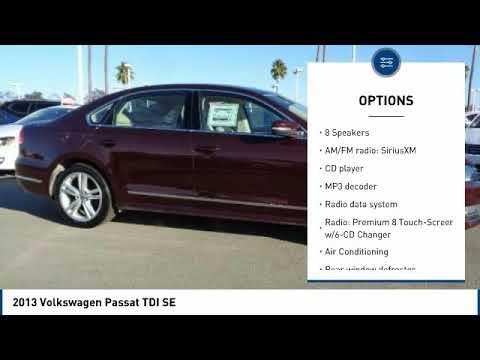 2013 Volkswagen Passat 2013 Volkswagen Passat TDI SE FOR SALE in Salinas, CA P11980