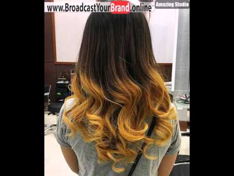 Brown Hair With Golden Blonde Ends