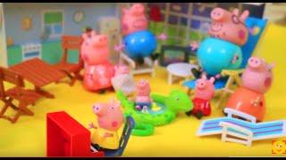 Мультфильм игрушками Свинка Пиги Pig Кузина Хлоя в гостях
