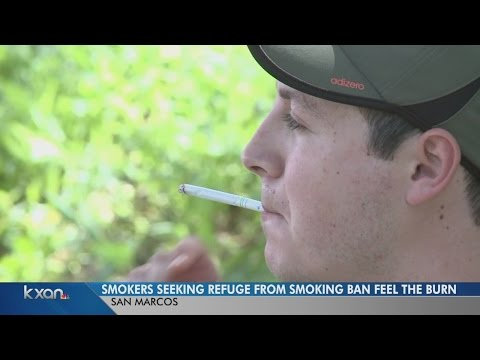 Smokers seek refuge from Texas State smoking ban