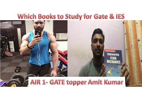 GATE Topper - AIR 1 Amit Kumar || Which Books to study for GATE & IES