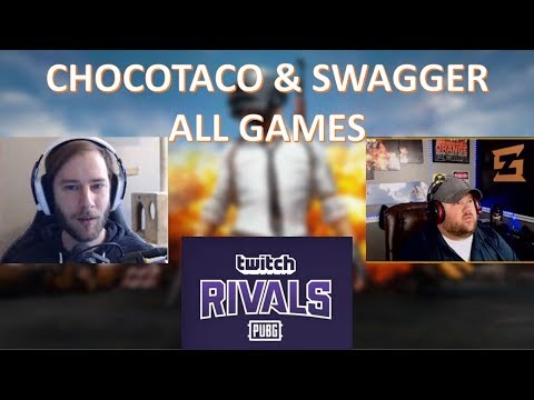 ChocoTaco + Swagger | Twitch Rivals PUBG Duo | ALL GAMES | June 28
