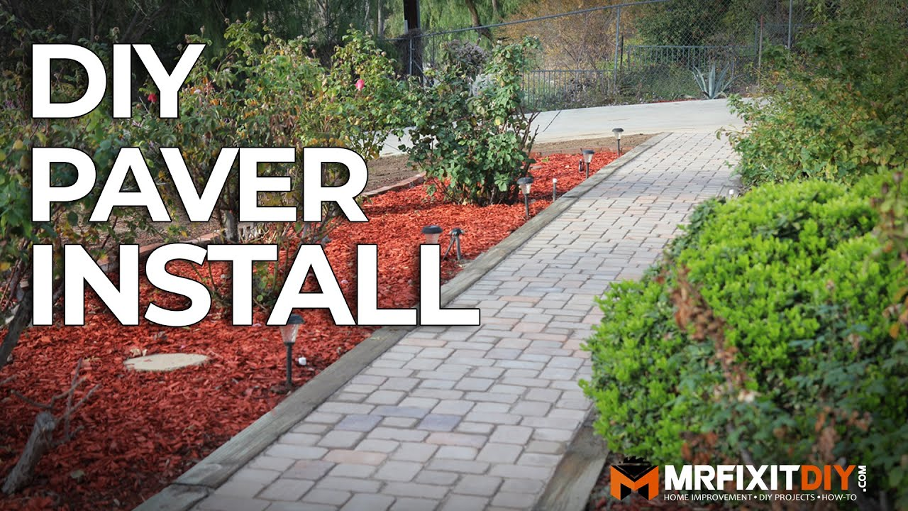 Diy Paver Walkway Installation Youtube