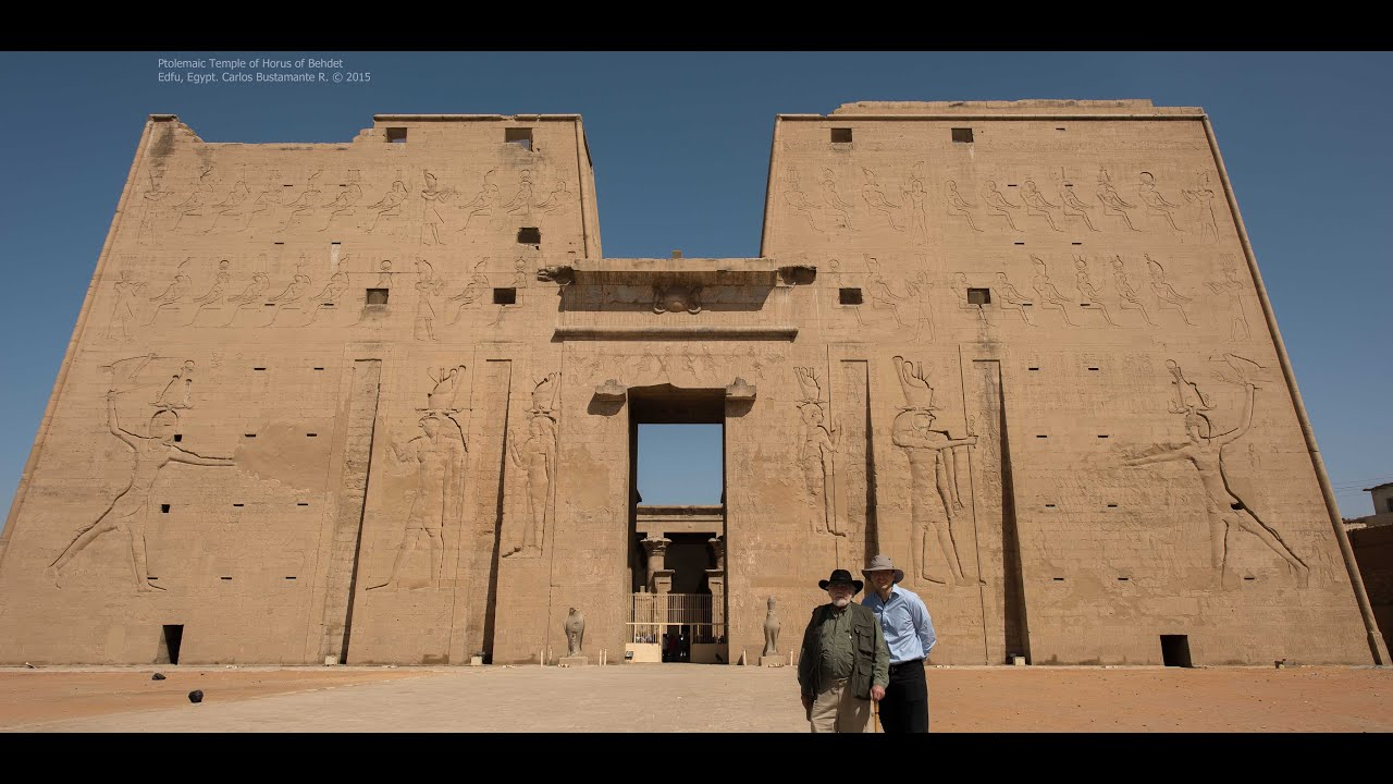 John Anthony West in the Temple of Horus - 2015