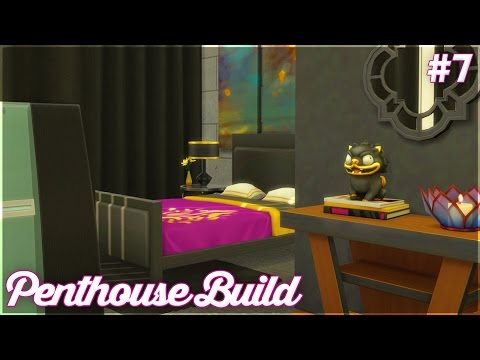 The Sims 4: Let's Build a Penthouse (Part 7) Butler's Suite