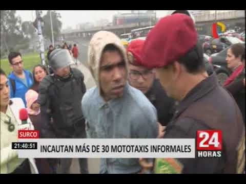 Surco: Incautan Más De 30 Mototaxis Informales