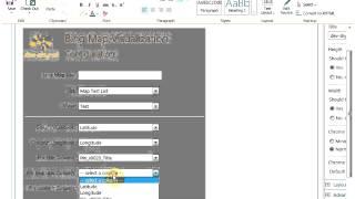 SharePoint Bing Map App