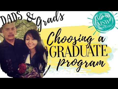 Grad School Advice    How to choose an MSW program??