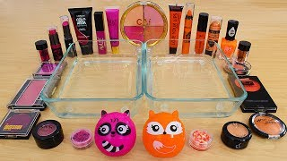 Pink vs Orange - Mixing Makeup Eyeshadow Into Slime Special Series 239 Satisfying Slime Video
