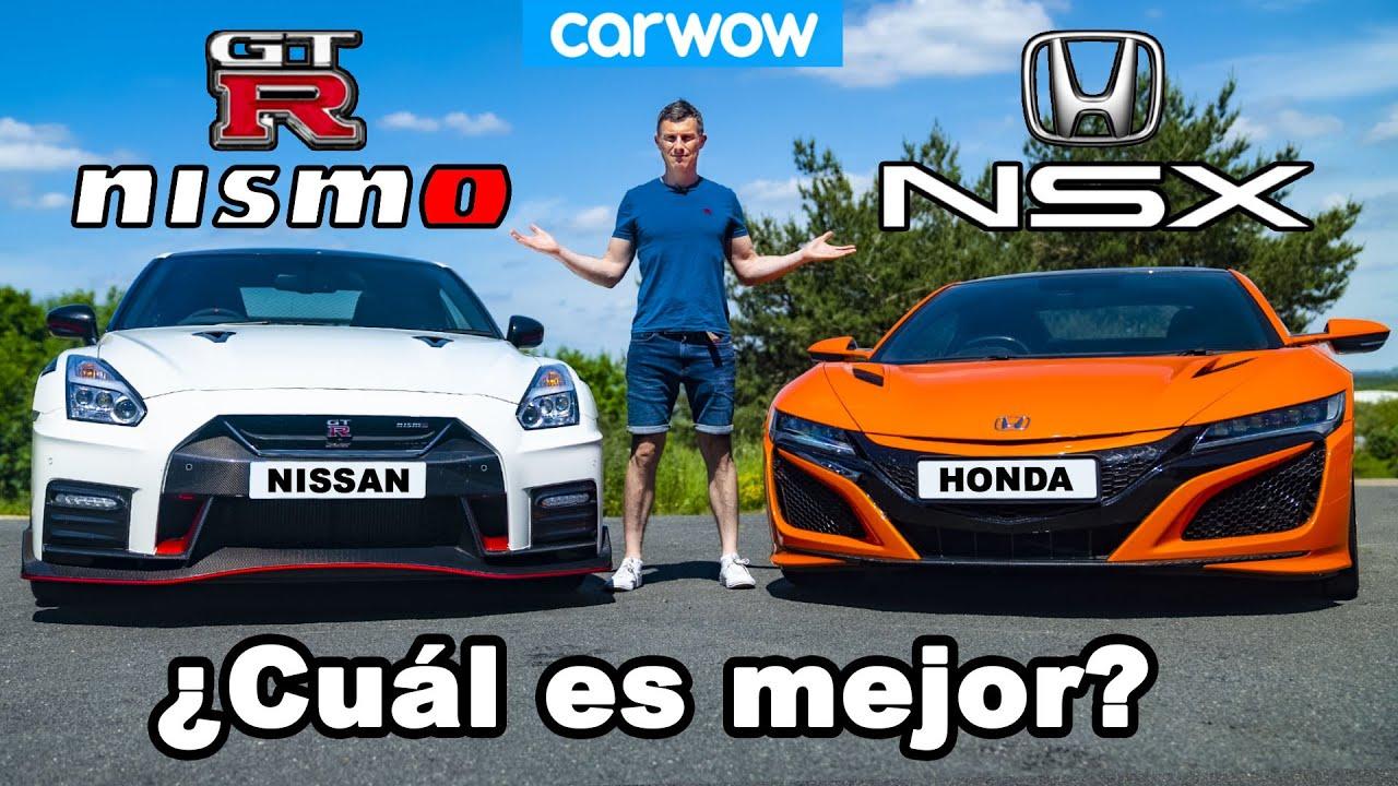 Honda NSX vs Nissan GT-R NISMO ¡reseña con 0-100km/h, 1/4 milla + prueba de frenado!