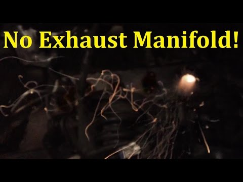 Engine Running Without Exhaust Manifold - Revving With Flames