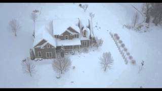 Asheville North Carolina Snowmageddon from the Air - #blizzard2016