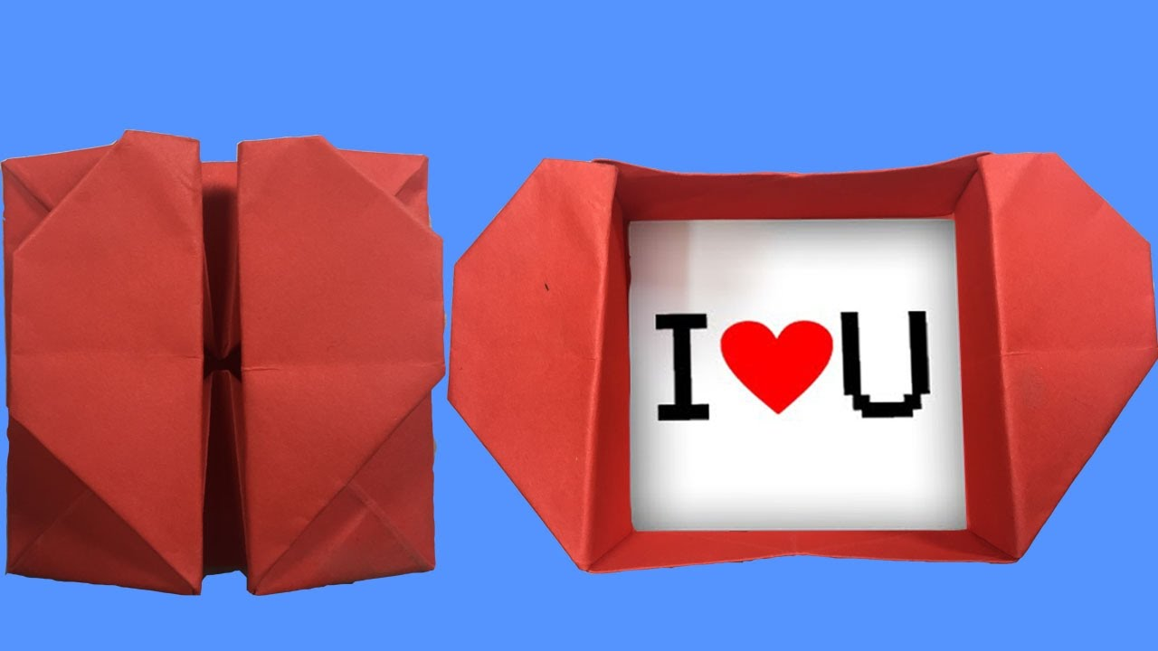 Diy Origami Heart Box And Envelope With Secret Message