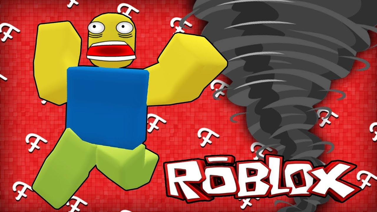 Roblox: Natural Disaster Survival, School Tornado, Hot Dog Stand! (Online Comedy Gaming)