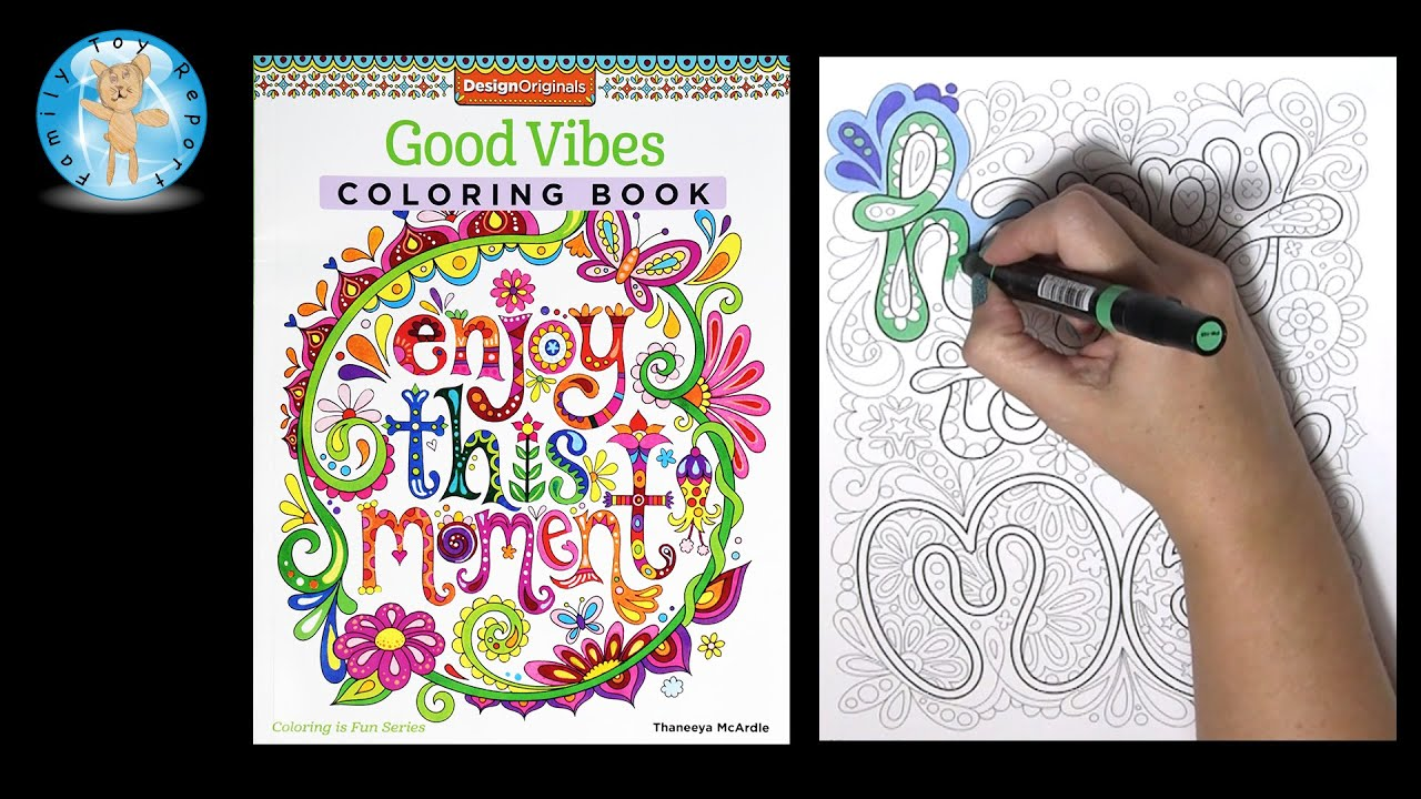 Design Originals Good Vibes Adult Coloring Book Thaneeya McArdle Happy To Be Me