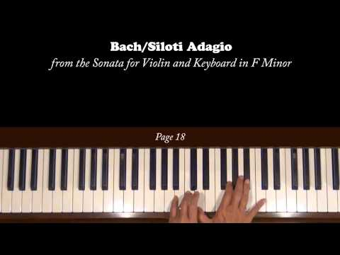 Bach/Siloti Adagio in F Minor Piano Tutorial
